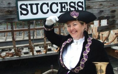 Town Crier Judy Campbell of Kyabram Town Hall Writers' Group